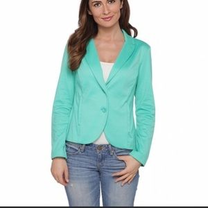 Metaphor Teal Green Padded Shoulder Coat 10
